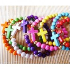 Bracelet - Coloured with  a Cross