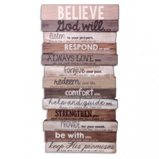 Believe God Will - Wood Stacked Plaque Medium