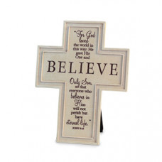Cross - Believe Small Metal Cross (Black)