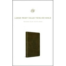 ESV Large Print Value Thinline - Trutone Olive Celtic Cross