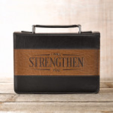Bible Cover - I Will Strengthen You - Large Size