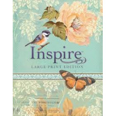 Inspire NLT Large Print Creative Journalling Bible - Floral Design with Birds and Butterflies