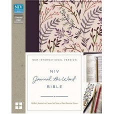 NIV Journal the Word Bible - Reflect, Journal, or Create Art Next to Your Favorite Verse - Pink Floral Cloth