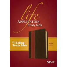 NIV Life Application Study Bible - Brown/Tan LeatherLike
