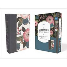 NIV The Woman's Study Bible - Blue Floral Cloth Over Board