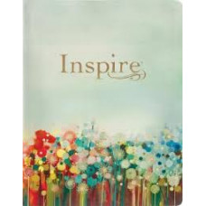 Inspire NLT Large Print Creative Journalling Bible - Floral Design