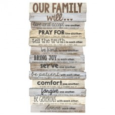 Our Family Will - Wood Stacked Plaque - Medium