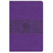 The Passion Translation New Testament with Psalms Proverbs and Song of Songs - Large Print - Violet Faux Leather - Brian Simmons - 2nd Edition