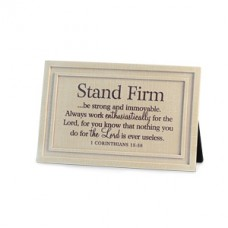 Stand Firm - Plaque Linen Textured Plaque