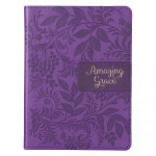 Journal Amazing Grace - Purple Faux Leather Handy-Sized