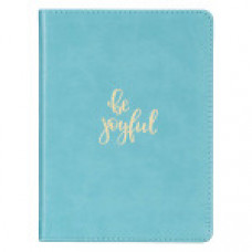Journal Be Joyful - Teal Faux Leather Handy-Sized