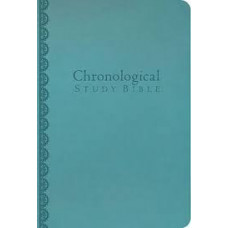NKJV Chronological Study Bible - Peacock Blue Leathersoft