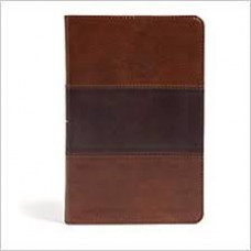 CSB Large Print Personal Size Reference Bible - Saddle Brown LeatherTouch
