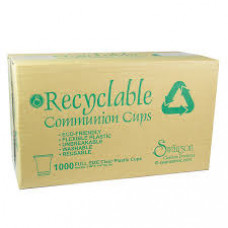 Communion Cups - Box of 1000 Recyclable Clear Plastic cups