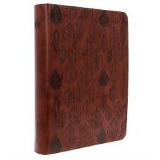 ESV Journaling Bible Single Column - Trutone Chestnut Leaves Design