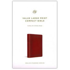 ESV Large Print Value Compact Bible - Trutone Tan Window Design