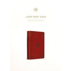 ESV Large Print - Trutone Tan Ornament Design