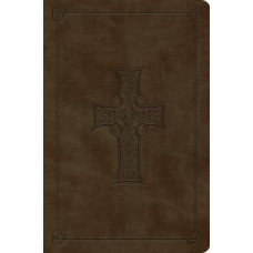 ESV Compact Outreach Bible - Olive Celtic Cross