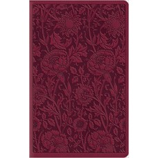 ESV Large Print Compact Bible - Trutone, Berry, Floral