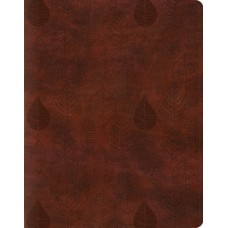 ESV  Single Column Journaling Bible - Trutone Chestnut Leaves Design