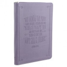 For I Know the Plans - Zipped - Purple Lux Leather Journal