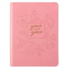 Grace upon Grace Lux Leather Journal in soft Pink