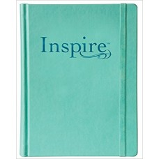 Inspire NLT - the Bible for Creative Journaling - LeatherLike Hardcover, Aquamarine