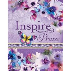 Inspire Praise NLT Bible - The Bible for Coloring & Creative Journaling - Purple floral cover