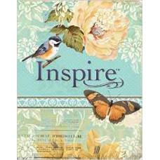 Inspire NLT - the Bible for Creative Journaling - Floral Design with Bird & Butterflies