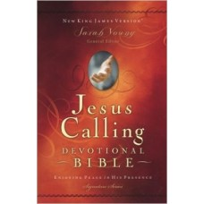 Jesus Calling Devotional Bible NKJV - Burgundy Leathersoft