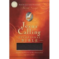 Jesus Calling Devotional Bible NKJV - Burgundy Bonded Leather