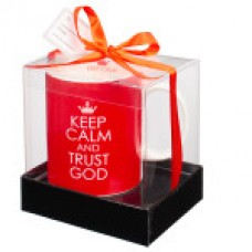 Keep Calm and Trust God - Mug - Red