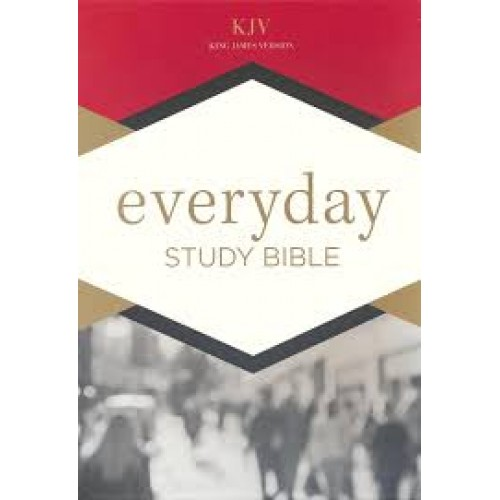 b612c44065807 KJV Everyday Study Bible - Black LeatherTouch