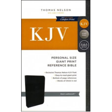 KJV Giant Print Personal Size Reference Bible - Black Leathersoft