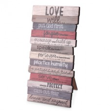 Love Will - Wooden Stacked Desk Top Plaque,