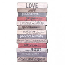 Love Will - Wooden Stacked  Plaque Medium