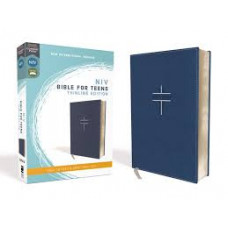 NIV Bible for Teens Thinline Edition - Blue Leathersoft