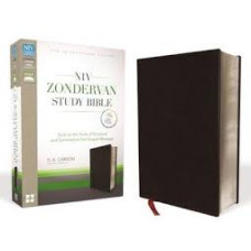 NIV Zondervan Study Bible - Bonded Leather Black