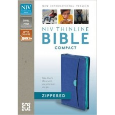 NIV Thinline Compact Bible - Zippered - Blueberry Turquoise