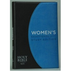 NIV Women's Devotional & Study Bible - Blue/Brown - Magnetic Closure