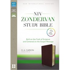NIV Zondervan Study Bible - Bonded Leather Burgundy  (2011)