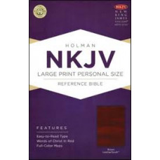 NKJV Large Print Personal Size Reference Bible - Brown LeatherTouch