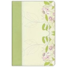 NKJV Study Bible for Women - Willow Green & Wildflower leatherTouch - Personal Size Edition