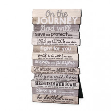 On The Journey - Wood Stacked Desk Top Plaque