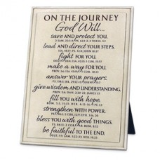 On the Journey God Will - Plaque Word Study