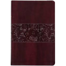 The Passion Translation New Testament with Psalms, Proverbs, and Song of Songs Large Print - Burgundy Faux Leather