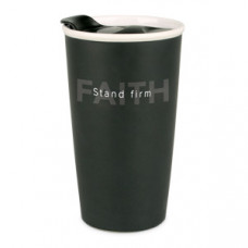 Stand Firm - Double Wall Ceramic Travel Coffee Mug