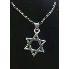 Star of David Necklace in Stirling Silver