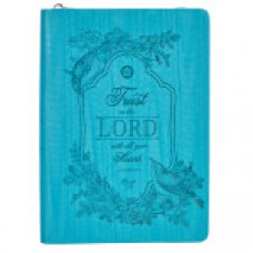Trust in the Lord  - Turquoise Zippered Journal
