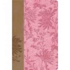 NIV Woman's Study Bible (Pink/Cafe Au Lait Fabric/Leathersoft)